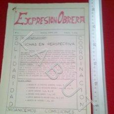 Coleccionismo de Revistas y Periódicos: EXPRESION OBRERA Nº 8 SEVILLA AGOSTO 1972 REVISTA COMUNISTA ANDALUCIA TRANSICION U29. Lote 222961326
