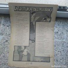 Coleccionismo de Revistas y Periódicos: LA LECTURA DEL PERIODICO. AÑO 1898. Lote 223074210