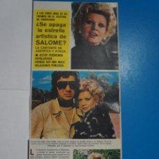 Coleccionismo de Revistas y Periódicos: RECORTE CLIPPING DE SALOMÉ REVISTA SEMANA Nº 1823 PAG. 43 Y 44 L1. Lote 223890243