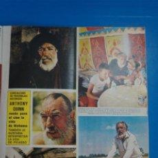 Coleccionismo de Revistas y Periódicos: RECORTE CLIPPING DE ANTHONY QUINN REVISTA SEMANA Nº 1823 PAG. 31 Y 32 L1. Lote 223890670