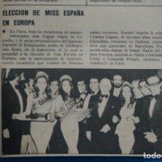 Coleccionismo de Revistas y Periódicos: RECORTE CLIPPING DE MISS ESPAÑA REVISTA SEMANA Nº 1843 PAG. 93 L1. Lote 223892610