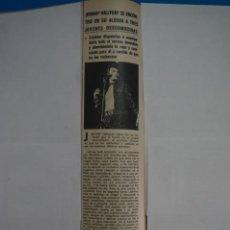 Coleccionismo de Revistas y Periódicos: RECORTE CLIPPING DE JOHNNY HALLYDAY REVISTA SEMANA Nº 1691 PAG. 23 L2. Lote 223938063