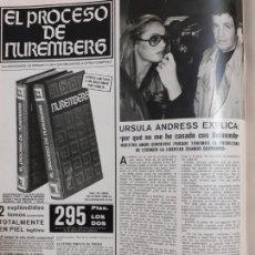 Collectionnisme de Revues et Journaux: URSULA ANDRESS JEAN PAUL BELMONDO. Lote 224007167