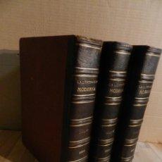 Coleccionismo de Revistas y Periódicos: LA ILUSTRACION MODERNA - TRES VOLÚMENES 1892 I - 1893 II 1893 III. Lote 224097067