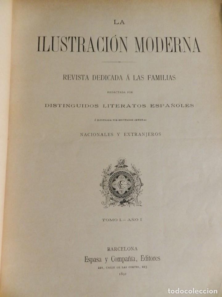 Coleccionismo de Revistas y Periódicos: LA ILUSTRACION MODERNA - TRES VOLÚMENES 1892 I - 1893 II 1893 III - Foto 4 - 224097067