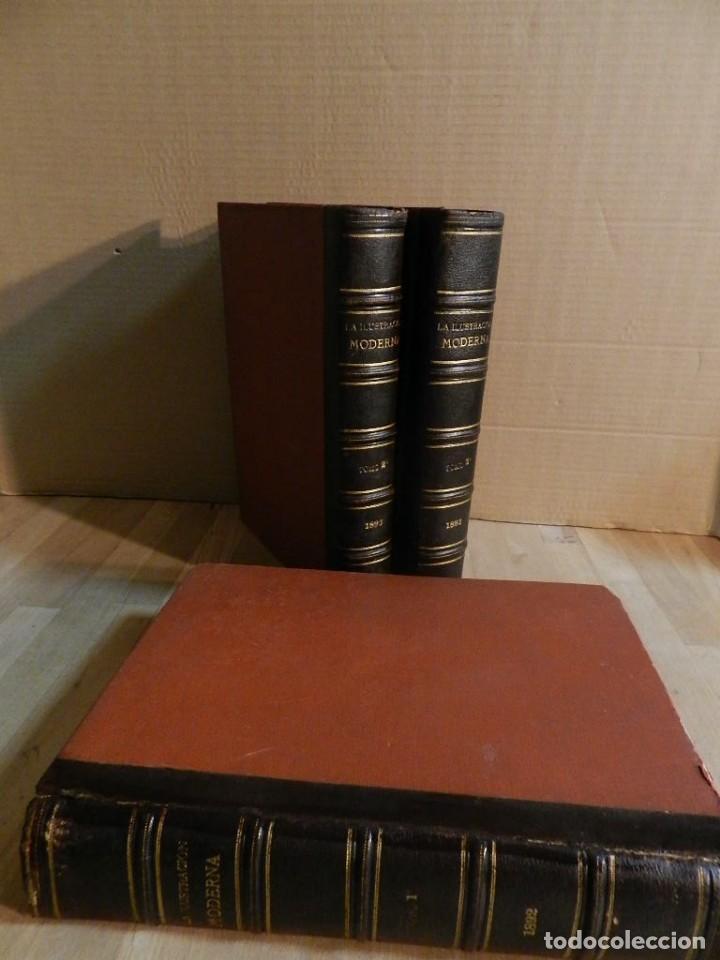Coleccionismo de Revistas y Periódicos: LA ILUSTRACION MODERNA - TRES VOLÚMENES 1892 I - 1893 II 1893 III - Foto 10 - 224097067