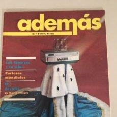 Colecionismo de Revistas e Jornais: ADEMÁS. NÚM. 1 (MAYO DE 1982). Lote 224158911