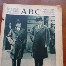 Coleccionismo de Revistas y Periódicos: ABC II REPÚBLICA, ENVIADO DE ROOSVELT CON HITLER, SEMANA SANTA SEVILLA, BILBAO. Lote 224220988