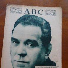 Coleccionismo de Revistas y Periódicos: ABC II REPÚBLICA, MAESTRO VIVES, ESTATUTO CATALÁN, PALACIO MÚSICA. Lote 224221510