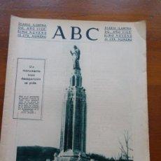 Coleccionismo de Revistas y Periódicos: ABC II REPÚBLICA, MONUMENTO BILBAO, MUERTE COOLIDGE, REYES MAGOS TOROS. Lote 224223135