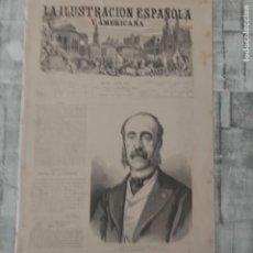Coleccionismo de Revistas y Periódicos: LA ILUSTRACION ESPAÑOLA Y AMERICANA 8 DE OCTUBRE DE 1877 ANGEL FERNANDEZ HEREDIA MAQUINA DE VAPOR. Lote 224319533