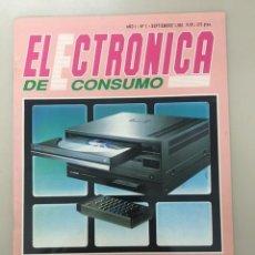 Colecionismo de Revistas e Jornais: ELECTRÓNICA DE CONSUMO. AÑO 1. NÚM. 1 (SEPTIEMBRE 1991). Lote 224628130