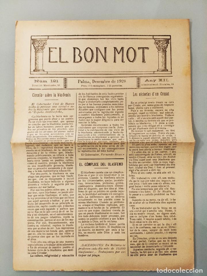 PUBLICACION BILINGÜE ORIGINAL MALLORQUIN CASTELLANO Nº121 MALLORCA 1928 (Coleccionismo - Revistas y Periódicos Antiguos (hasta 1.939))