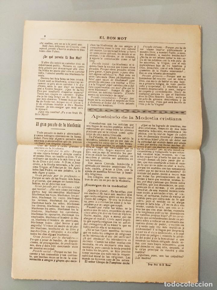 Coleccionismo de Revistas y Periódicos: PUBLICACION BILINGÜE ORIGINAL MALLORQUIN CASTELLANO Nº121 MALLORCA 1928 - Foto 2 - 224881892