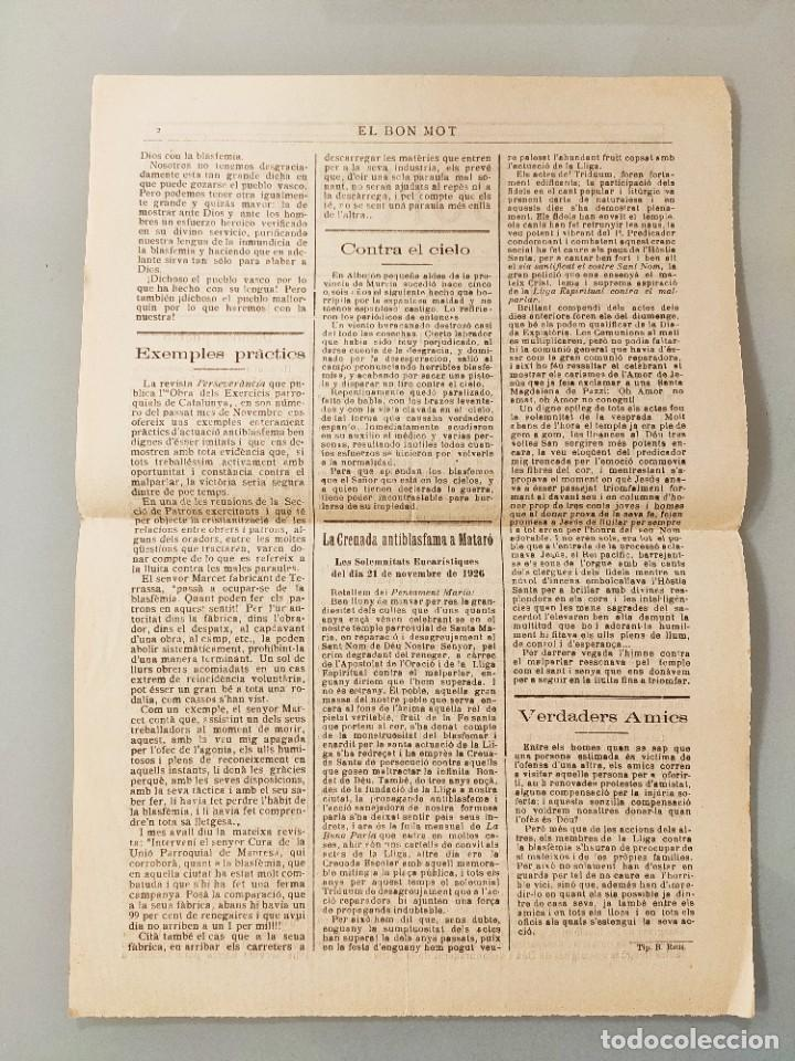 Coleccionismo de Revistas y Periódicos: PUBLICACION BILINGÜE ORIGINAL MALLORQUIN CASTELLANO Nº103 MALLORCA 1927 - Foto 2 - 224882128
