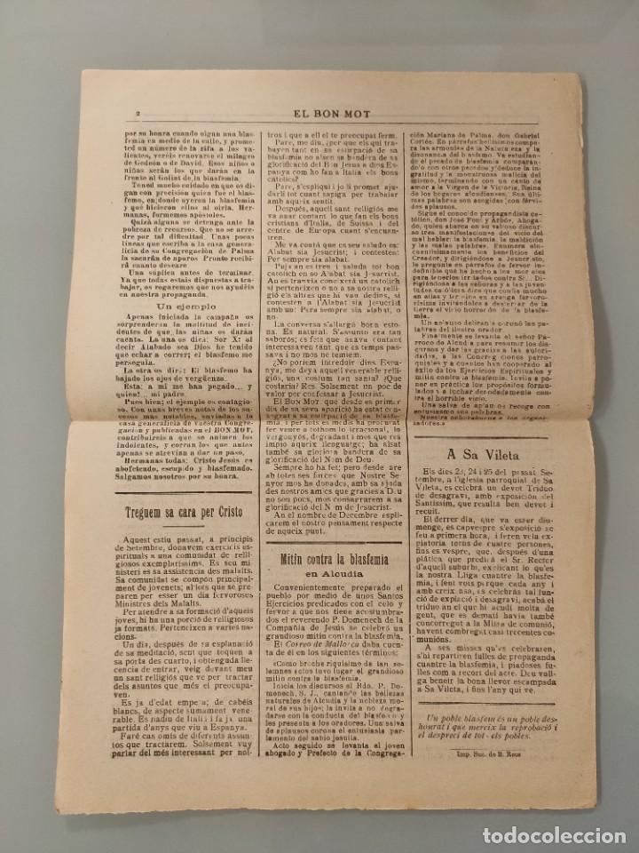 Coleccionismo de Revistas y Periódicos: PUBLICACION BILINGÜE ORIGINAL MALLORQUIN CASTELLANO Nº109 MALLORCA 1927 SA VILETA ALCUDIA - Foto 2 - 224882152