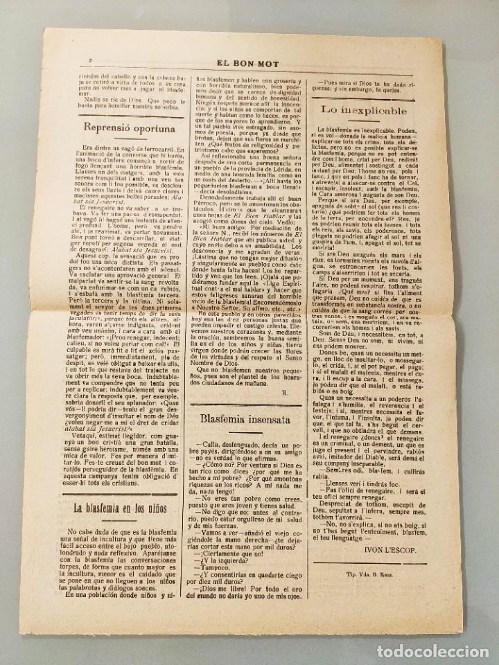 Coleccionismo de Revistas y Periódicos: EL BON MOT Nº135 PALMA MALLORCA 1930 HOJA BILINGÜE FELIX AZZATI IVON LESCOP, MUY RARA - Foto 2 - 224883373