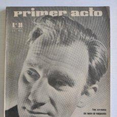Coleccionismo de Revistas y Periódicos: PRIMER ACTO - REVISTA DEL TEATRO - Nº39 - ENERO 1963. Lote 224906593