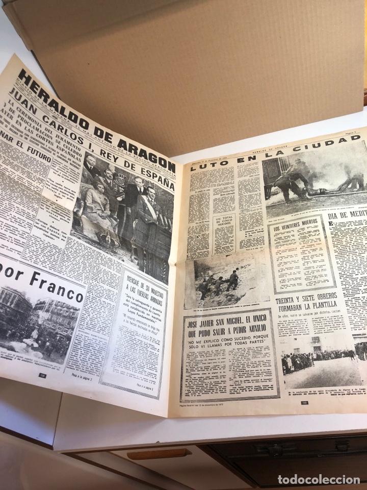 Coleccionismo de Revistas y Periódicos: Heraldo de Aragon recordando la muerte de Franco (facsímil ) - Foto 2 - 224985300