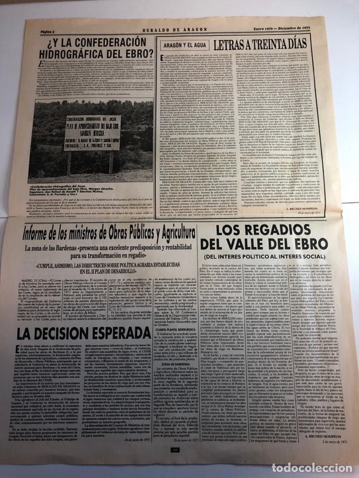 Coleccionismo de Revistas y Periódicos: Heraldo de Aragon recordando la muerte de Franco (facsímil ) - Foto 3 - 224985300