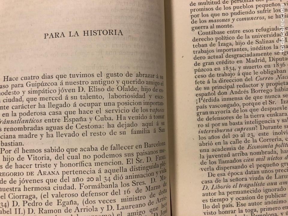 Coleccionismo de Revistas y Periódicos: REVISTA DE LAS PROVINCIAS EUSKARAS TOMO III N° 3 (1879). DIRIGE: FERMÍN HERRÁN. PABLO DE ALZOLA - Foto 6 - 225010045