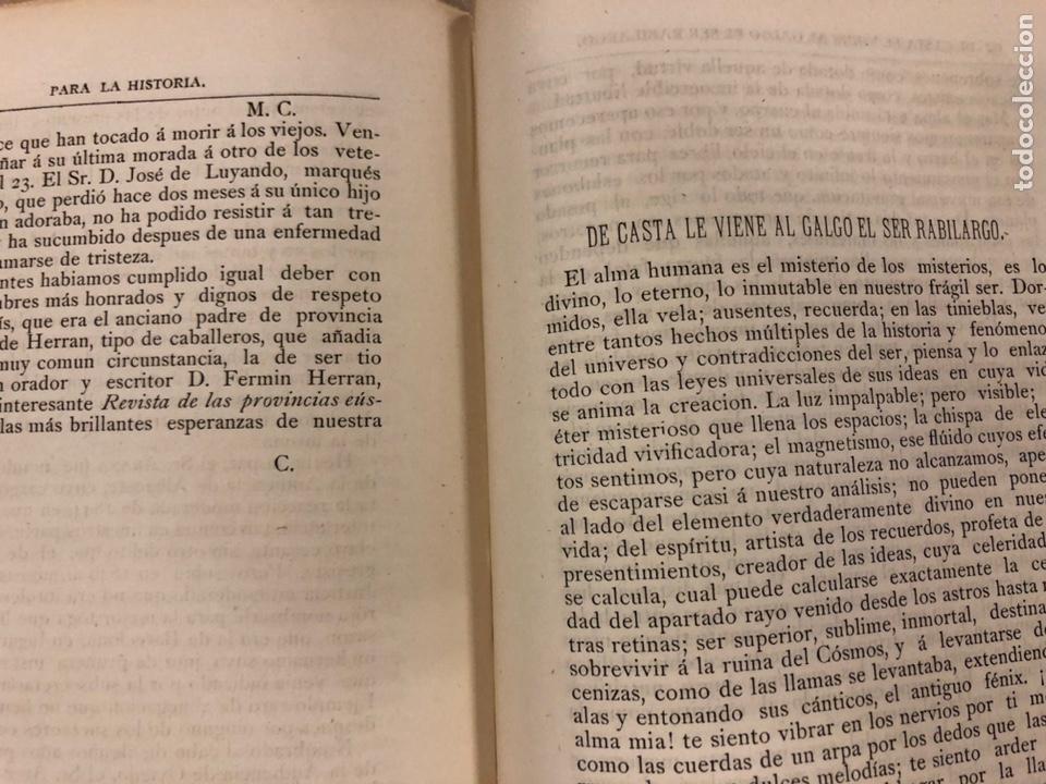 Coleccionismo de Revistas y Periódicos: REVISTA DE LAS PROVINCIAS EUSKARAS TOMO III N° 3 (1879). DIRIGE: FERMÍN HERRÁN. PABLO DE ALZOLA - Foto 7 - 225010045