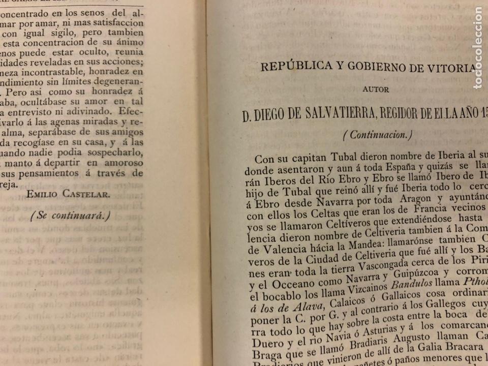 Coleccionismo de Revistas y Periódicos: REVISTA DE LAS PROVINCIAS EUSKARAS TOMO III N° 3 (1879). DIRIGE: FERMÍN HERRÁN. PABLO DE ALZOLA - Foto 8 - 225010045