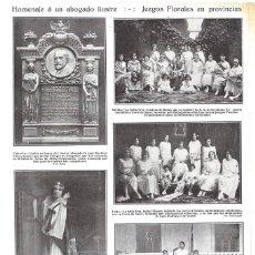 Coleccionismo de Revistas y Periódicos: 1923 HOJA REVISTA CUENCA FELISA DEL OLMO REINA DE LOS JUEGOS FLORARES FOTO DE KAULAK. Lote 225127318