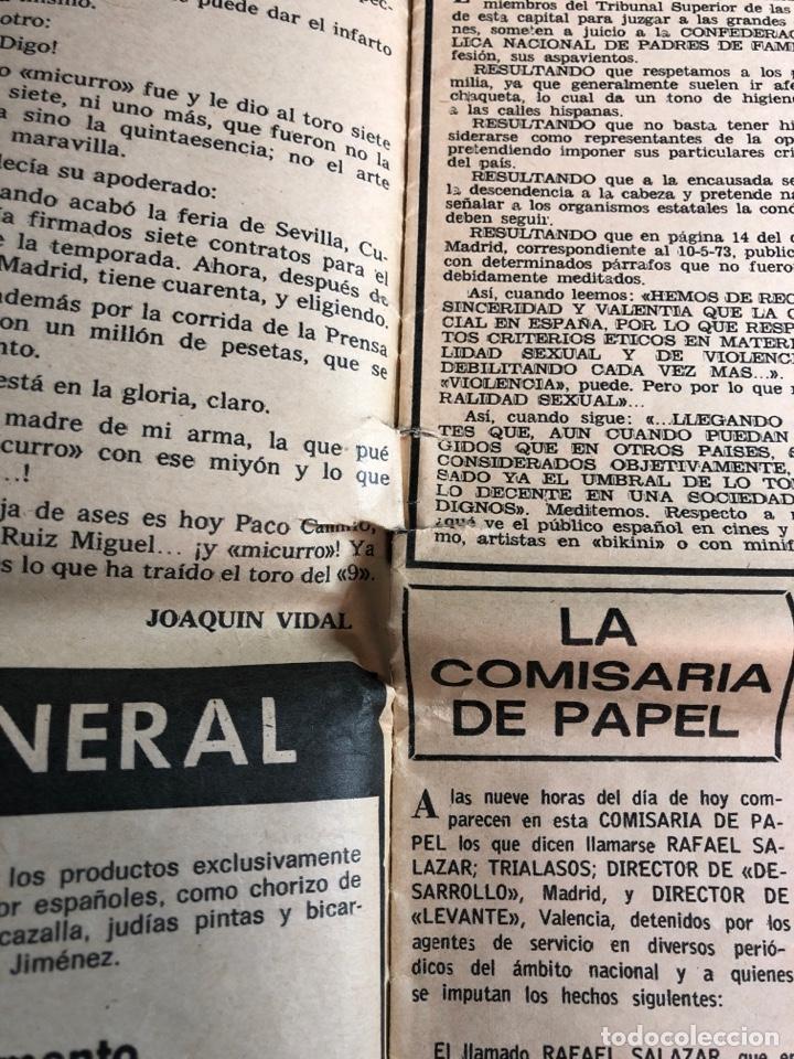 Coleccionismo de Revistas y Periódicos: La codorniz década de prensa humorística (8 de julio de 1973)número 1633 - Foto 3 - 225173445