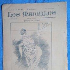 Coleccionismo de Revistas y Periódicos: LOS MADRILES. Nº 93 REVISTA SEMANAL. 1890 SATÍRICA. PONS. ROJAS. Lote 225195966