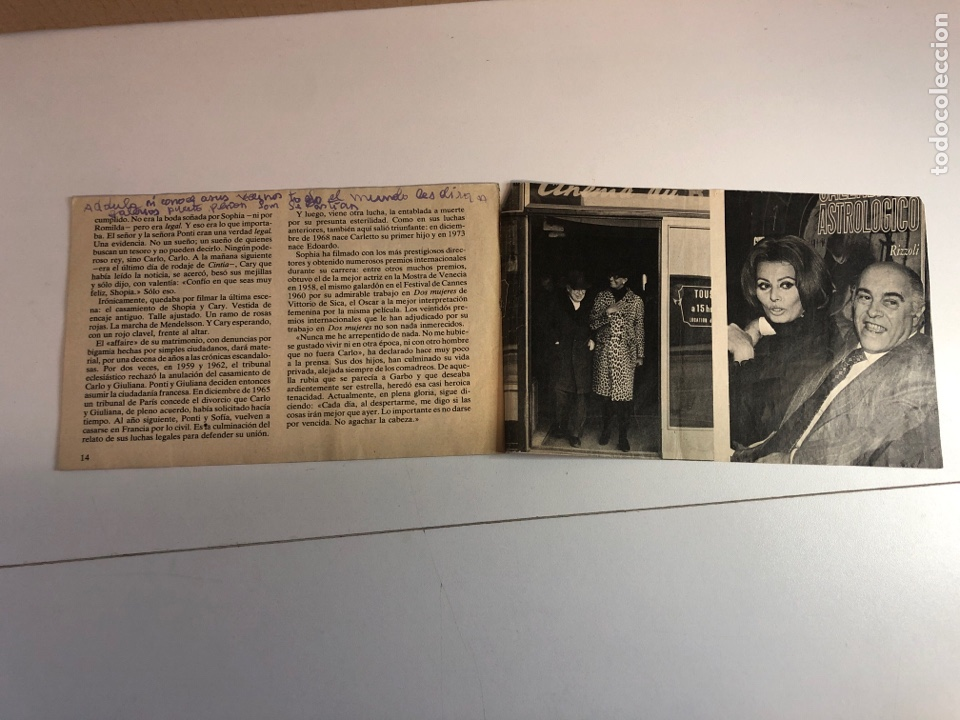 Coleccionismo de Revistas y Periódicos: Las grandes pasiones del siglo (SOPHIA LOREN/CARLO PONTI) - Foto 3 - 225242565