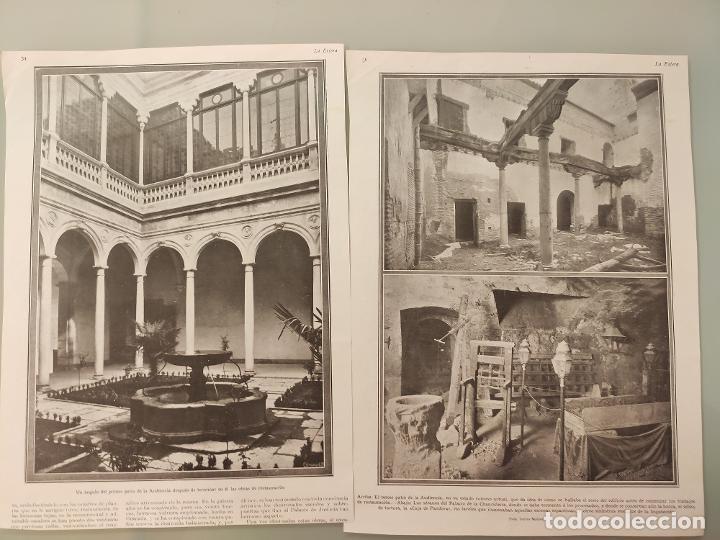 Coleccionismo de Revistas y Periódicos: 2 HOJAS REVISTA ORIGINALES ANTIGUAS. RESTAURACION PALACIO CHANCILLERIA DE GRANADA - Foto 2 - 225536571