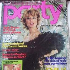 Coleccionismo de Revistas y Periódicos: REVISTA PARTY Nº 108 EMILIA RUBIO YEDA BROWN PIERROT EMILIO LAGUNA ILONA STALLER ANTONIO AMAYA GAY. Lote 225728202