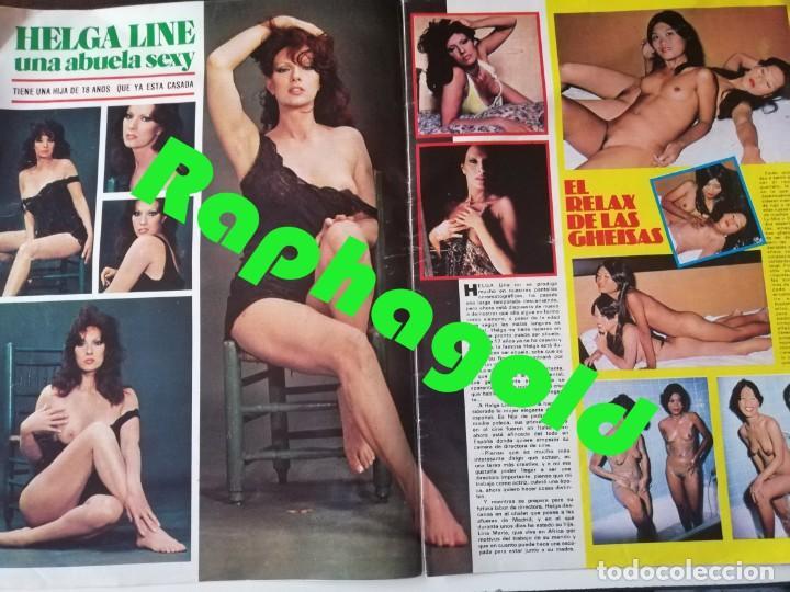 Coleccionismo de Revistas y Periódicos: Revista PARTY nº 111 Helga Line Barbara Bouchet Lola Martinez Lilian de Celis Antonio Amaya Gay - Foto 3 - 225736758