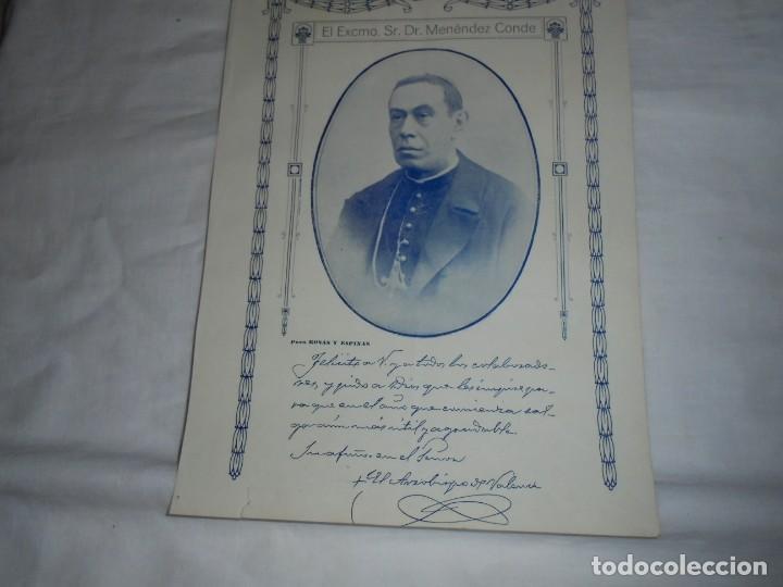 EL ARZOBISPO DE VALENCIA SR.DR.MENENDEZ CONDE.HOJA DE REVISTA ROSAS Y ESPINAS 1916 (Coleccionismo - Revistas y Periódicos Antiguos (hasta 1.939))