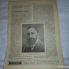 Coleccionismo de Revistas y Periódicos: EL PUBLICISTA SEVERINO AZNAR.HOJA DE REVISTA ROSAS Y ESPINAS 1916. Lote 226142315
