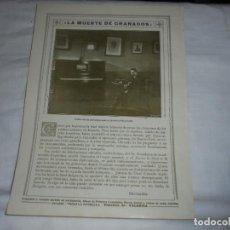 Coleccionismo de Revistas y Periódicos: LA MUERTE DE GRANADOS ULTIMO RETRATO DEL AUTOR HECHO EN NUEVA HOJA DE REVISTA ROSAS Y ESPINAS 1916. Lote 226143475