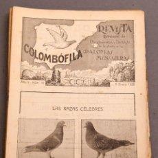 Coleccionismo de Revistas y Periódicos: COLOMBÓFILA - REVISTA PALOMAS MENSAJERAS - COLOMBOFILIA - AÑOS 20. Lote 226221477