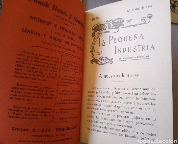 Coleccionismo de Revistas y Periódicos: LA PEQUEÑA INDUSTRIA revista popular de electricidad, motociclismo, artes e industrias 1902 - Foto 3 - 226402725