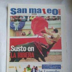 Coleccionismo de Revistas y Periódicos: DIARIO LA RIOJA SUPLEMENTO ESPECIAL FIESTAS DE SAN MATEO LOGROÑO 23 SEPTIEMBRE DE 2001. TDK309B. Lote 226690575