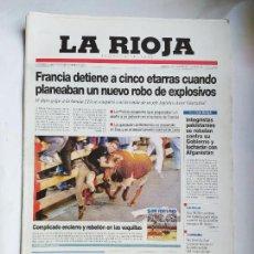 Coleccionismo de Revistas y Periódicos: DIARIO LA RIOJA. LUNES 24 SEPTIEMBRE 2001. FIESTAS DE SAN MATEO LOGROÑO. TDK309B. Lote 226690800