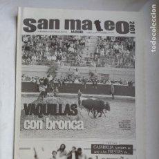 Coleccionismo de Revistas y Periódicos: DIARIO LA RIOJA. SUPLEMENTO ESPECIAL 24 SEPTIEMBRE DE 2001. FIESTAS SAN MATEO LOGROÑO TDK309B. Lote 226690860