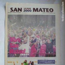 Coleccionismo de Revistas y Periódicos: DIARIO LA RIOJA. SUPLEMENTO ESPECIAL 21 SEPTIEMBRE DE 2000. FIESTAS SAN MATEO LOGROÑO TDK309B. Lote 226691220