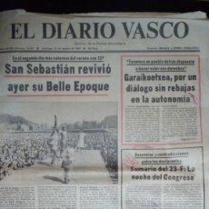 Coleccionismo de Revistas y Periódicos: PERIÓDICO EL DIARIO VASCO DE 1981. Lote 226697135