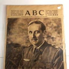 Coleccionismo de Revistas y Periódicos: PERIÓDICO ABC DEL DÍA 11 DE JUNIO DE 1939. Lote 227005210