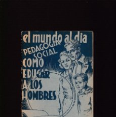 Collectionnisme de Revues et Journaux: ANARQUISMO - FEDERICO URALES - CÓMO EDUCAR A LOS HOMBRES - ED. LA REVISTA BLANCA. Lote 227053985