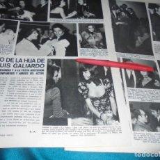 Coleccionismo de Revistas y Periódicos: RECORTE : MARISOL, LOLA FLORES, EN EL BAUTIZO HIJO DE JUAN LUIS GALIARDO. SEMANA, DCMBRE 1970 (#). Lote 227129844