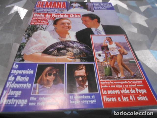 SEMANA - 5-7-1989 - MARISOL PORTADA 5F 4P FARRAH FAWCETT 3F 2P - MAJA ESPAÑA 6F 2P (Coleccionismo - Revistas y Periódicos Modernos (a partir de 1.940) - Otros)