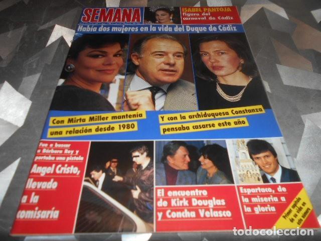 SEMANA - 22-2-1989 - ISABEL PANTOJA 7F - ESTEFANIA DE MONACO 2F - MARISOL 5F 2P (Coleccionismo - Revistas y Periódicos Modernos (a partir de 1.940) - Otros)