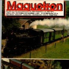 Coleccionismo de Revistas y Periódicos: MAQUETREN. REVISTA DE LOS AFICIONADOS AL TREN MAQUETA Y REAL. LOTE DE 10 REVISTAS. VER DESCRIPCION... Lote 227577110